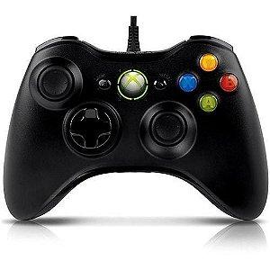 Controle Microsoft Xbox 360 / PC - Com fio