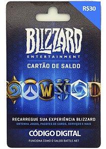 Cartão Presente Blizzard Battle.Net Crédito de 30 Reais - Envio Digital
