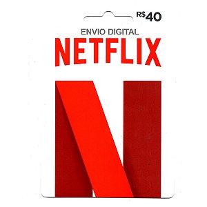 Cartão Presente NetFlix 40 Reais - Envio digital
