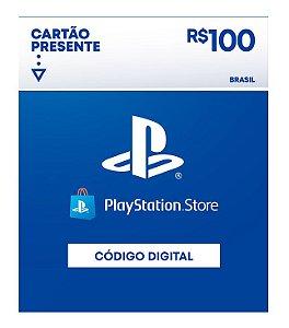 Cartão Presente Playstation Store R$100 - Código Digital