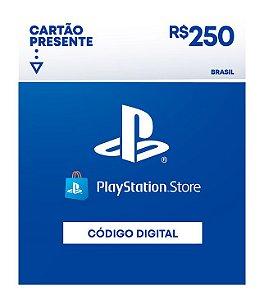 Cartão Presente Playstation Store R$250 - Código Digital