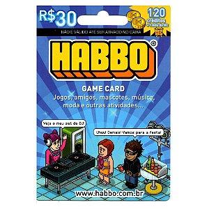 Cartão Pré Pago - HABBO 120 créditos + 1 Mês HC