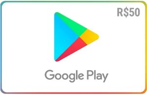 Cartão Google Play Store Brasil - Crédito de R$50 - Envio Digital