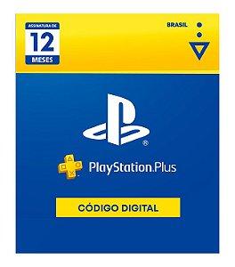 Cartão Digital PS Plus 12 Meses - Código Digital