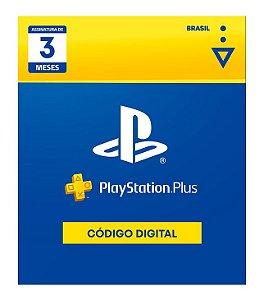 Cartão Digital PS Plus 3 Meses - Código Digital