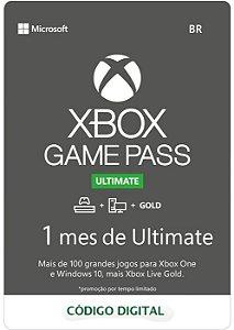 Cartão Assinatura 1 Mes Gamepass Ultimate - Código Digital