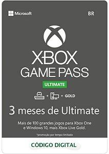 Cartão Assinatura 3 Meses Gamepass Ultimate - Código Digital