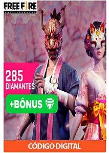 Créditos para Free Fire - 285 Diamantes + Bônus