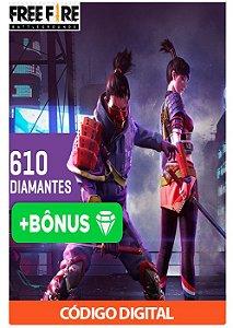 Créditos para Free Fire - 610 Diamantes + Bônus