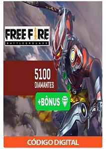 Créditos para Free Fire - 5100 Diamantes + Bônus