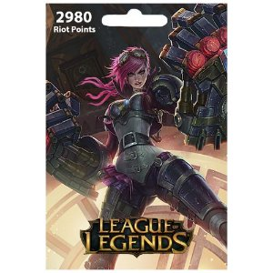 Cartão League Of Legends 2980 RPs  - LOL Riot Points