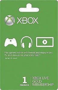 Cartão Xbox Live Gold - 1 Mes De Assinatura