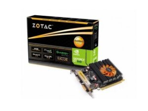 PLACA DE VIDEO GEFORCE ZOTAC NVIDIA GT 640 2GB DDR3 128-BITS 1600Mhz / 900Mhz 384 CUDA CORES DVI | DVI | MINI-HDMI