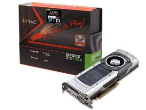 PLACA DE VIDEO GEFORCE ZOTAC NVIDIA GTX TITAN 6GB DDR5 384BITS 6008MHZ / 837MHZ 2688 CUDA CORES DVI | DVI | HDMI | DP