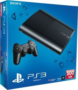 Playstation 3 Super Slim Preto 500gb Hdmi 3d Blu-ray Bivolt