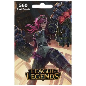 Cartão League Of Legends 560 RPs  - LOL Riot Points