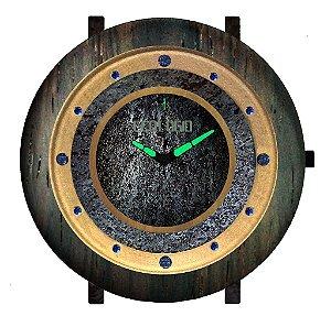 Relógio de Madeira de Luxo e Meteorito