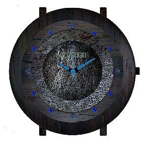Relógio de Luxo com Meteorito Madeira Jacarandá Vidro Safira Gemstone Jewelry D. Izabel