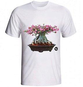 Rosa do Deserto - Camiseta UNISSEX BRANCA malha PP (Puro Poliéster)