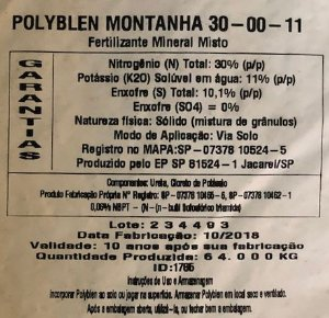 Fertilizante Polyblen Montanha 1 Kg - Liberação lenta - Crescimento