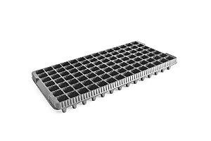 Kit com 10 Bandejas de Germinação 98 células - Preto