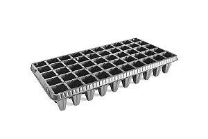 Kit com 10 Bandejas de Germinação com 50 células - Preto