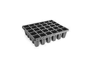 Kit com 10 Bandejas de Germinação com 30 células - Preto