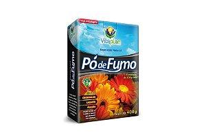 Repelente natural Pó de Fumo 400gr. Combate cochonilha, lagarta e pulgão.