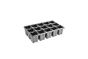 Kit com 10 Bandejas de Germinação com 15 células - Preto