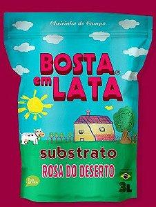 Substrato Orgânico Bosta em Lata Rosa do Deserto -3 litros