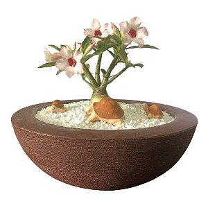 Trio de tartaruguinhas marrons (miniaturas) de gesso para enfeitar vasos e terrários