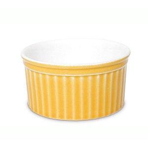 Forma Canelada Ramequim Porcelana Ø 8 x 4 cm 100 ml Amarelo | Oxford