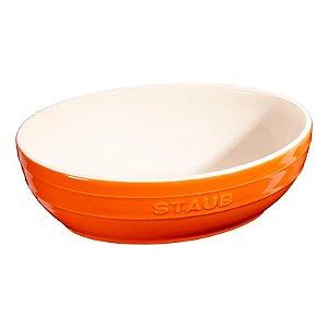 Conjunto Multi Bowl Com 2 Peças De 23 e 27 cm Laranja Cerâmica | Staub
