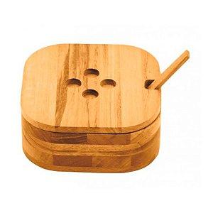 Farinheiro Madeira Muiracatiara com Colher de Bamboo | Tramontina
