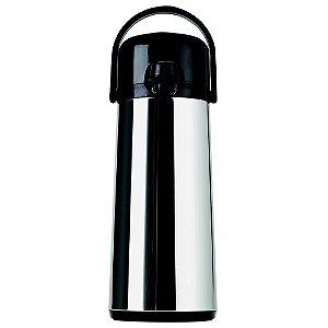 Garrafa Térmica Aço Inox Pressão Air Pot  Ampola de Vidro 1800 ML