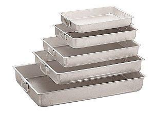 Assadeira Estampada de Alumínio Nº 6 - 50,5 x 35,5 x 7 cm