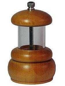 Moedor de Pimenta de Acrílico com  Base de Madeira Pequeno Ø 6,4 x 11 cm | Pepper Mill