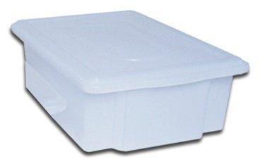 Caixa Plástica Branca com Tampa 11 Litros | 41 x 29 x 12,5 cm