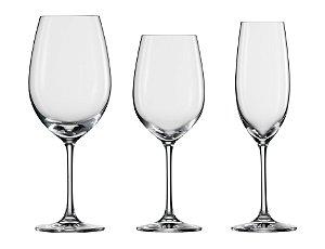 Jogo com 12 Taças Ivento: 4 Vinho Tinto 506 ml | 4 Vinho Branco 349 ml | 4 Champagne 228 ml | Schott Zwiesel