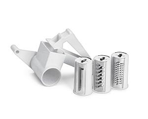 Ralador Manivela com opções 3 Lâminas - 16 x 13 x 2,4 cm | Hércules