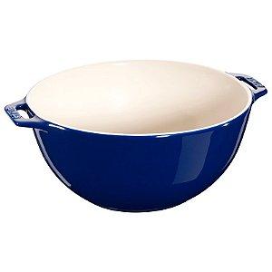 Bowl Cerâmica Esmaltada Azul Marinho 25 cm 3,2 L | Staub
