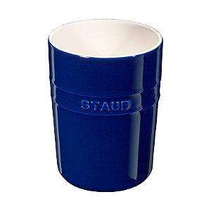 Porta Utensilios Cerâmica 11 cm Azul Marinho | Staub