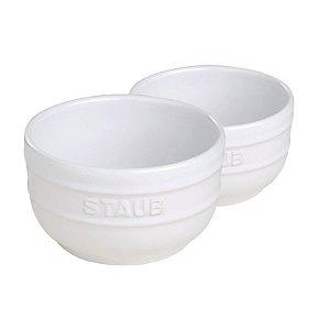 Conjunto De Ramekin Cerâmica Branca Com 2 Peças 8 cm | Staub