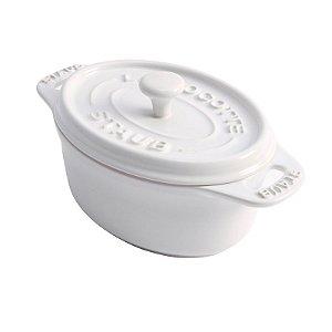 Caçarola Oval Cerâmica Branca 11 cm | Staub