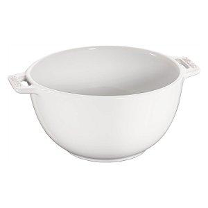 Bowl Cerâmica Esmaltada Branca 25 cm | Staub