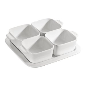 Conjunto Cerâmica Branca para Aperitivos 5 Peças 19 x 19 cm | Staub