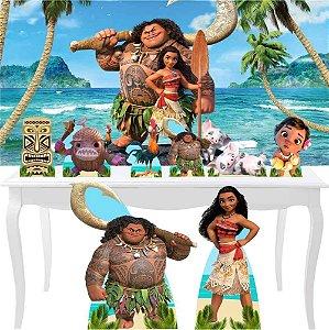 Combo Festa Diamante Painel 1x70 + 8 Totem Moana Mauiu