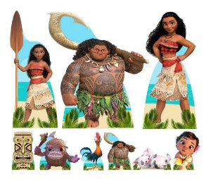 Combo Ouro Moana Painel Totem Display