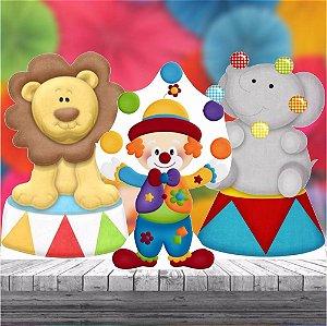 Kit 3 Circo Display Cenário Decoração Aniversário Festa