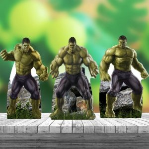 Kit 3 Hulk Heroi Totem Display Mesa Mdf